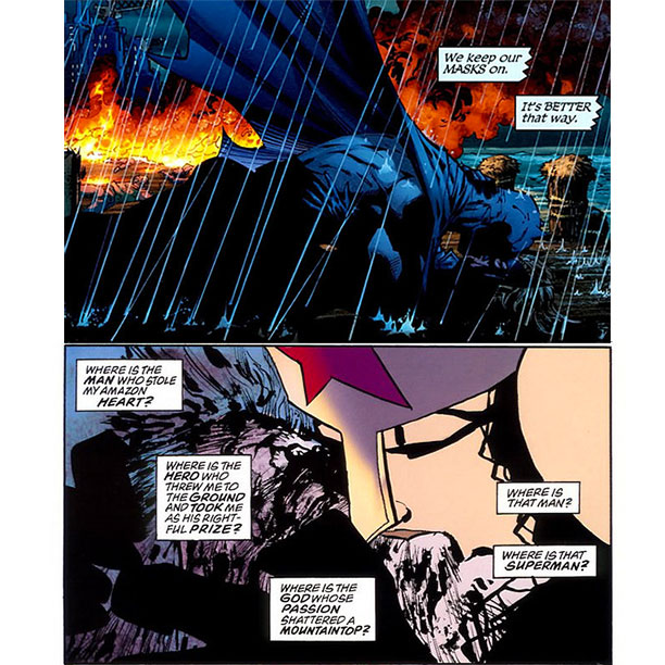 Frank Miller   Miller also really, really, really loves to show what happens when superheroes do the nasty. Spoiler alert: It's weird.
