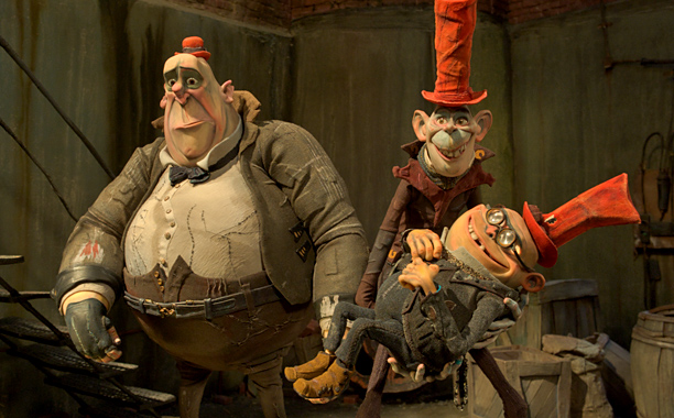 Nick Frost and Richard Ayoade voice Mr. Trout (left) and Mr. Pickles (center), while comedian Tracy Morgan took on his very first animated voice role…