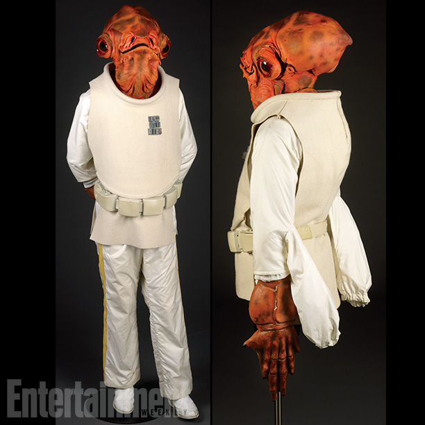 Star Wars   Originally referred to as ''Calamari man'' in the creature shop, Ackbar has become an online phenomenon. Two versions of the costume had to be created…
