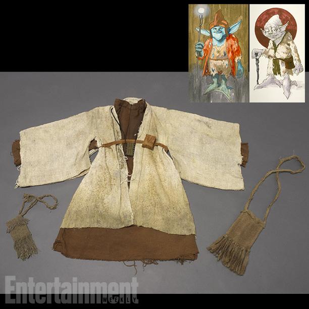 Star Wars   Costume designer John Mollo took the Empire Strikes Back screenplay's description of Yoda to design a character who wore a ''heavily broken-down version of Ben…
