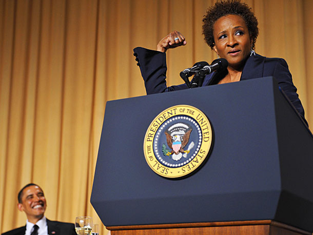 Wanda Sykes   This Emmy-winner started out strong, ribbing the new POTUS's many photo ops and a press that was filled with folks who believed Obama could do…
