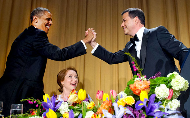 Barack Obama, Jimmy Kimmel   ABC's great late night hope gave an address that was funny but safe, focusing several of his Obama jokes on the fact that the commander-in-chief…