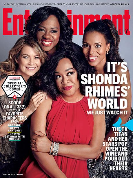 Ellen Pompeo, Viola Davis, Shonda Rhimes, and Kerry Washington