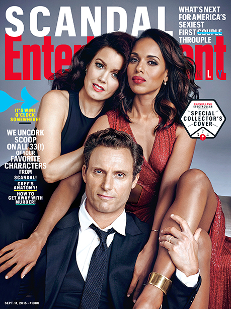 Kerry Washington With Bellamy Young and Tony Goldwyn on the Cover of EW