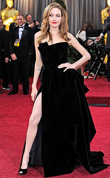 Angelina Jolie in Atelier Versace, 2012 Academy Awards