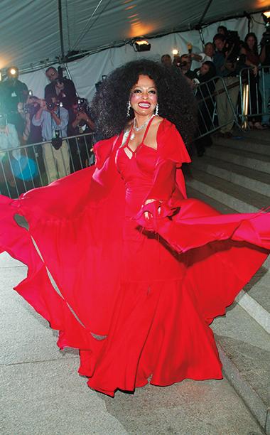 Diana Ross in Gucci, 2003 Met Gala