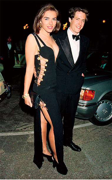 Elizabeth Hurley in Versace with Hugh Grant, 1994 Four Weddings and a Funeral Premiere