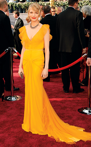Michelle Williams in Vera Wang, 2006 Academy Awards