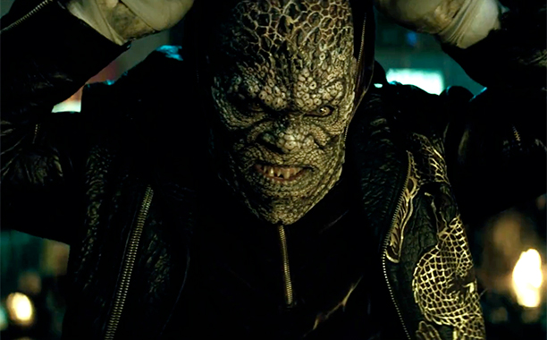 Killer Croc, the most reptilian member of the group