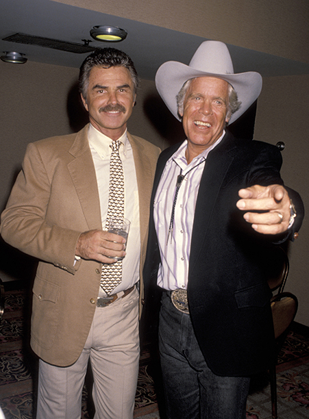 July 28, 1990 With Doug McClure at the Golden Boot Awards