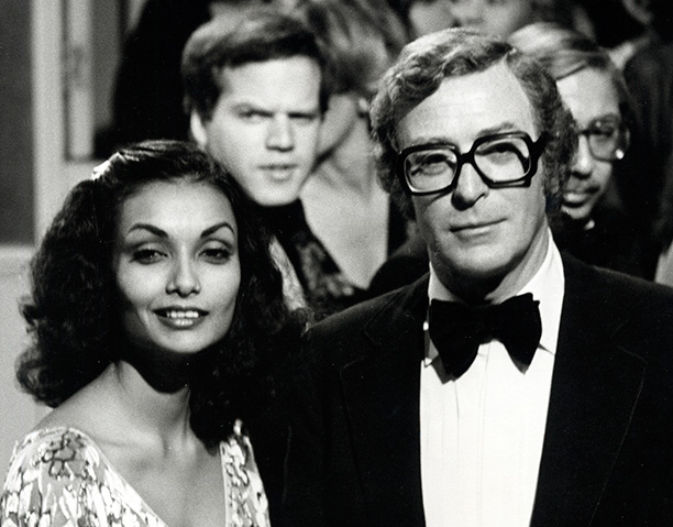 With His Wife Shakira Caine on March 7, 1979