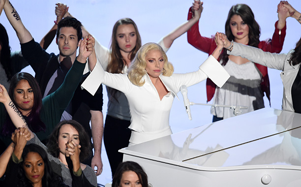 "Lady Gaga Sings ""Til It Happens to You"""