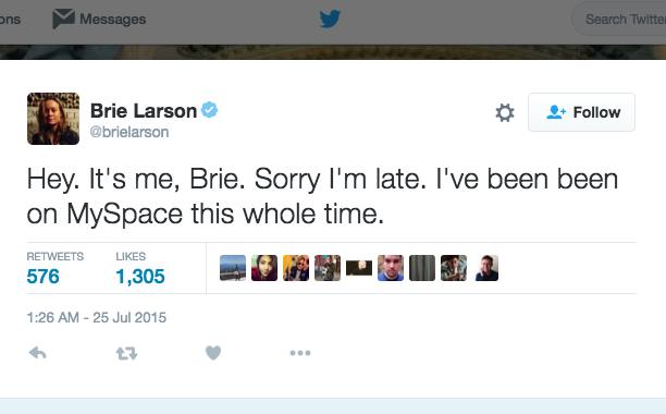 Brie Larson: July 25, 2015