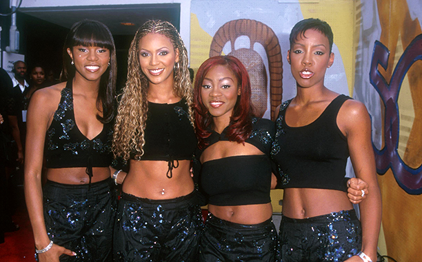 LeToya Luckett, Beyonce Knowles, LaTavia Roberson, and Kelly Rowland at The 5th Annual Soul Train Lady of Soul Awards in 1999