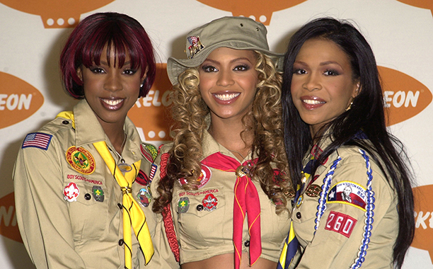 Kelly Rowland, Beyonce Knowles, and Michelle Williams at the 14th Annual Kids Choice Awards in 2001