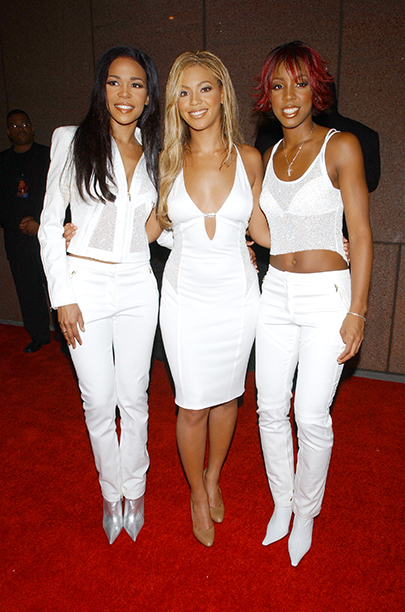 Michelle Williams, Beyonce Knowles, and Kelly Rowland at Michael Jackson's 30th Anniversary Celebration in 2001