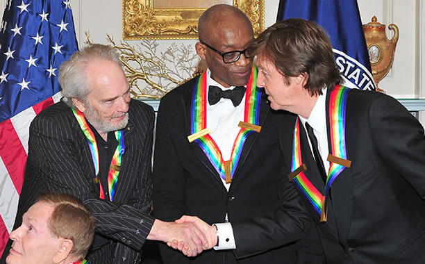 Merle Haggard With Paul McCartney and Bill T. Jones at the 2010 Kennedy Center Honors on December 4, 2010
