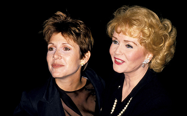Debbie Reynolds With Carrie Fisher at the New York Premiere of The Unsinkable Molly Brown on September 19, 1989