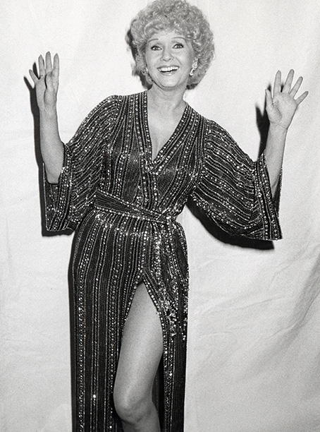Debbie Reynolds at the American Movie Awards on March 15, 1982