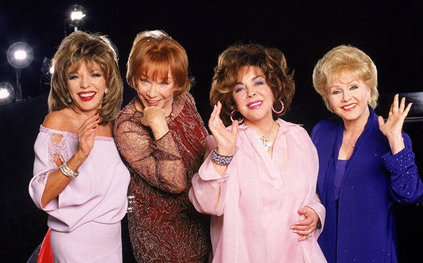 Debbie Reynolds With Shirley MacLaine, Joan Collins and Elizabeth Taylor in These Old Broads on September 8, 2000