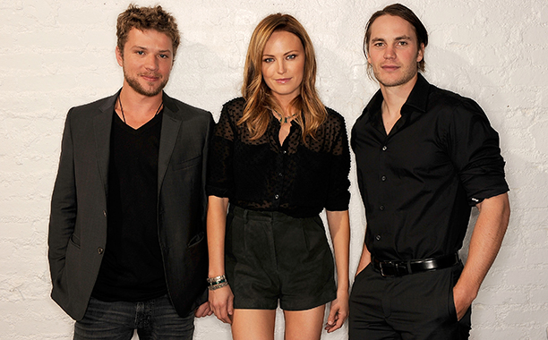 Taylor Kitsch, Ryan Phillippe, and Malin Akerman on April 21, 2011
