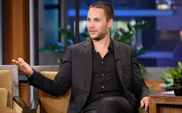 Taylor Kitsch on May 8, 2012