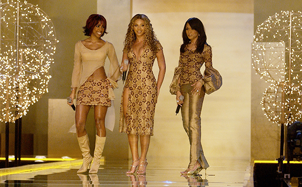 Kelly Rowland, Beyonce Knowles, and Michelle Williams at the 2002 Victoria's Secret Fashion Show