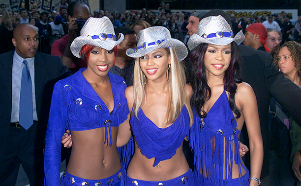 Kelly Rowland, Beyonce Knowles, Michelle Williams in New York City in 2001