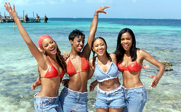 Beyonce Knowles, Kelly Rowland, Farrah Franklin, and Michelle Williams on MTV's Spring Break 2000