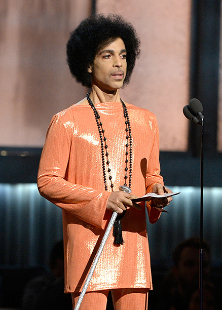 Prince at the 57th Annual Grammy Awards on February 8, 2015