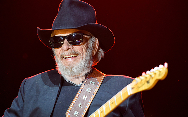 Merle Haggard Performing at the Stagecoach Festival in Indio, California on April 24, 2015
