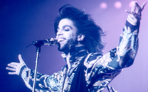 Prince Performing in London on August 22, 1990