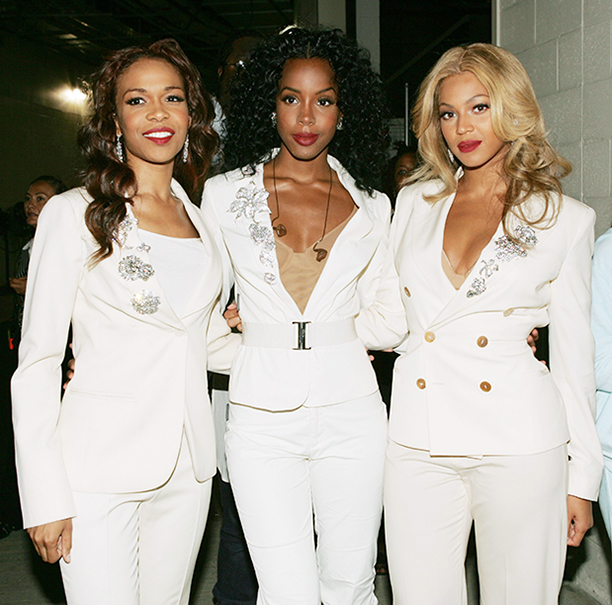 Michelle Williams, Kelly Rowland, and Beyonce Knowles at the NFL Opening Game in 2004