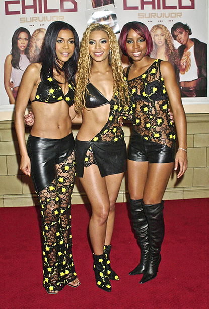 Michelle Williams, Beyonce Knowles, and Kelly Rowland in London in 2001