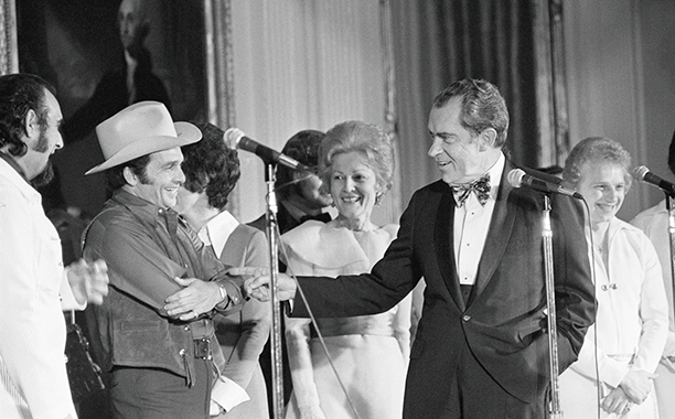 Merle Haggard Performing for President Richard Nixon and His Family on March 17, 1973