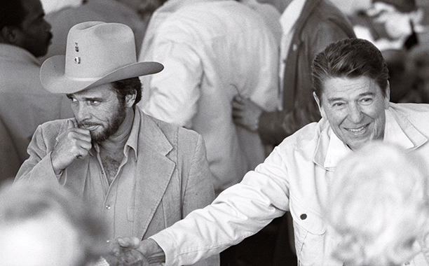 Merle Haggard With President Ronald Reagan on March 16, 1982
