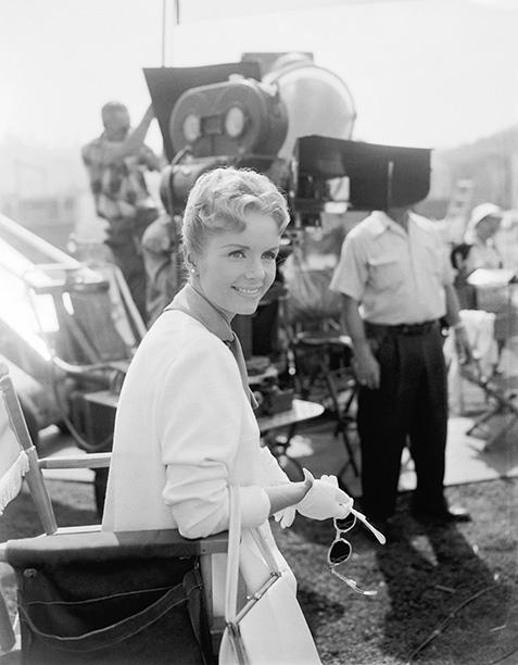 Debbie Reynolds Filming This Happy Feeling in 1958