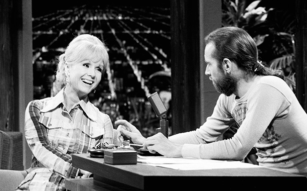 Debbie Reynolds With George Carlin on The Tonight Show Starring Johnny Carson on July 3, 1973