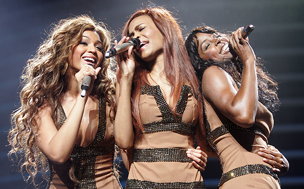 Beyonce Knowles, Michelle Williams, and Kelly Rowland on the Destiny Fulfilled...and Lovin It World Tour in 2005