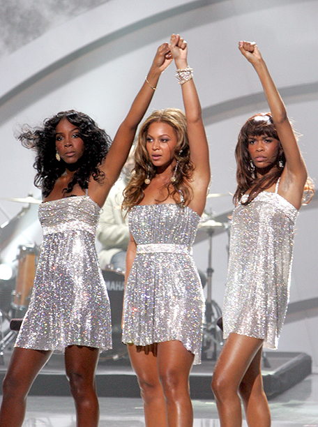 Kelly Rowland, Beyonce Knowles, and Michelle Williams at the 2005 World Music Awards