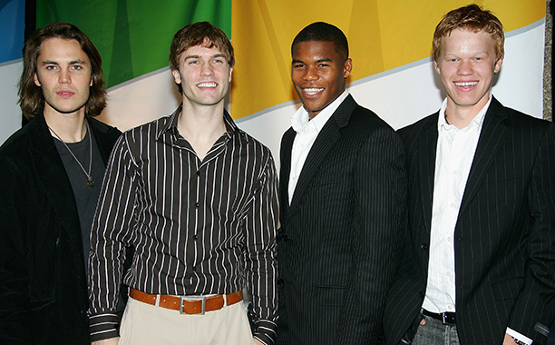 Taylor Kitsch With Scott Porter, Gaius Charles and Jesse Plemons on May 15, 2005