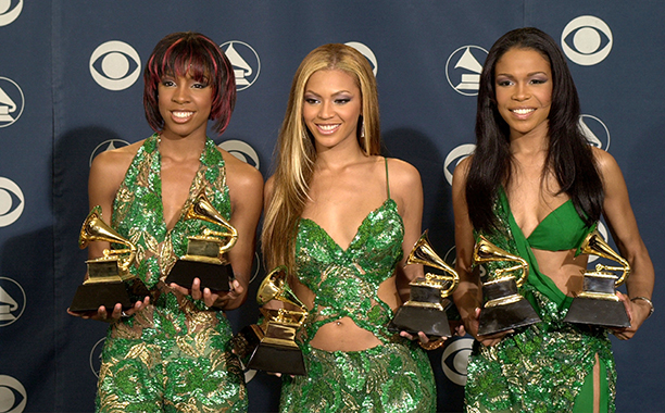 Kelly Rowland, Beyonce Knowles, and Michelle Williams at the 43rd Annual Grammy Awards in 2001