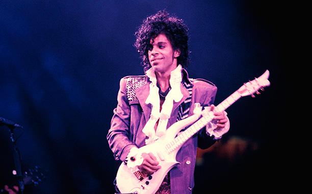Prince on the Purple Rain Tour on September 13, 1984