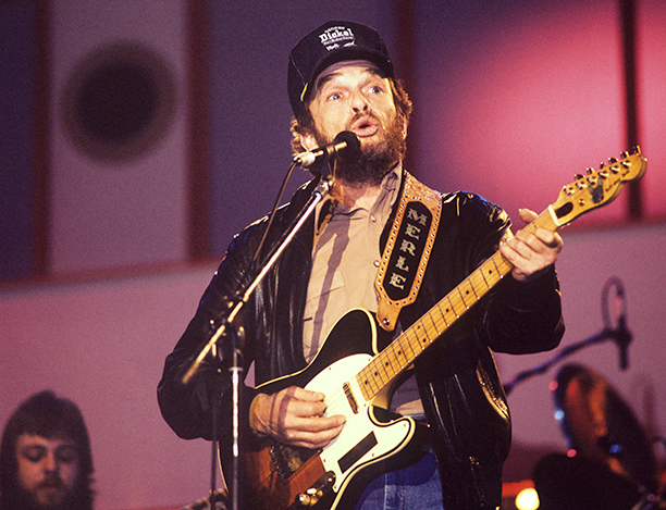 Merle Haggard at the Country Music Festival in London on April 1988