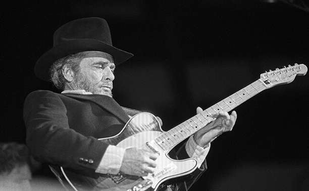 Merle Haggard Performing at the Oakland Coliseum on January 19, 1990