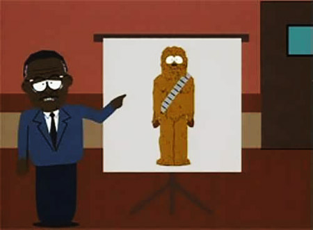 South Park   Perhaps the most ingenious reference to that Galaxy Far, Far Away occurred in the season 2 South Park episode ''Chef Aid,'' in which Chef is…
