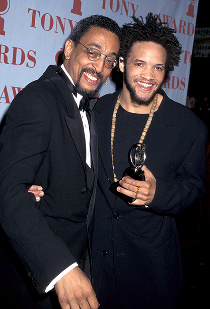 Presenter Gregory Hines and Best Actor in a Musical Nominee Savion Glover (Bring in 'da Noise, Bring in 'da Funk)