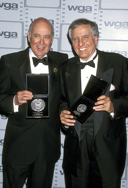 Garry Marshall With Carl Reiner at the 47th Annual Writers Guild Awards on March 19, 1995