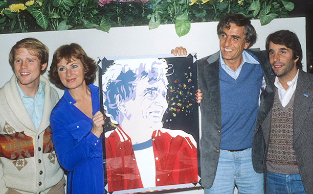 Garry Marshall With Ron Howard, Marion Ross, and Henry Winkler at a Happy Days Party in 1983