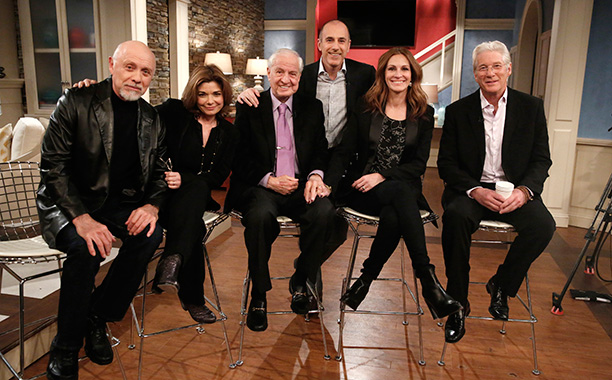 Garry Marshall With Hector Elizondo, Laura San Giacomo, Matt Lauer, Julia Roberts, and Richard Gere on the Today Show on March 16, 2015